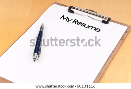 "Clip Board With ""My Resume"" - stock photo"