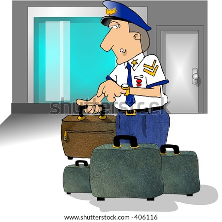 Clipart Illustration Of Airport Security