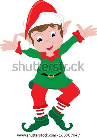 clipart image happy little christmas elf stock illustration rh shutterstock com