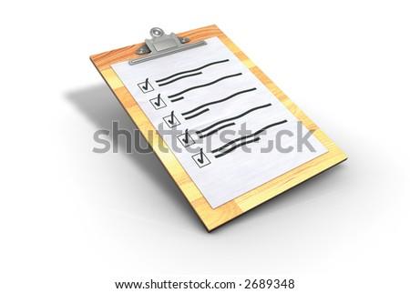 Clipboard Checklist - stock photo