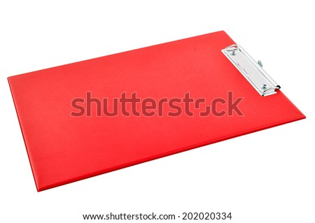 Clipboard - colorful plastic clipboard or writing board isolated on white background