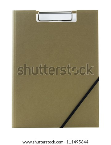 CLIPBOARD COVER isolated on white background - stock photo