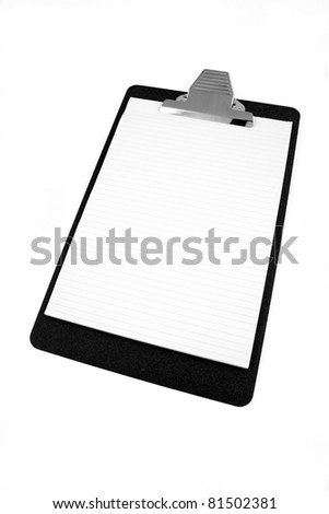 Clipboard isolated on white - stock photo