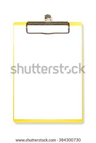 clipboard notepad isolated on white - stock photo