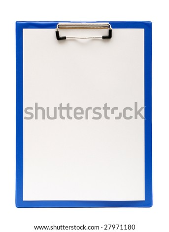 clipboard on a white background