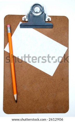 clipboard with blank note and pencil