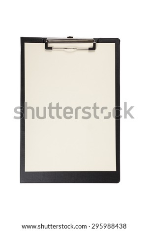 clipboard with blank page isolated