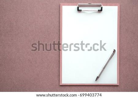 Blank Paper Sheet Hanging On Fridge Stock Photo 357516623 ...