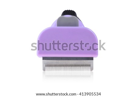 Clipper comb for pet grooming close up isolated on white background with clipping paths