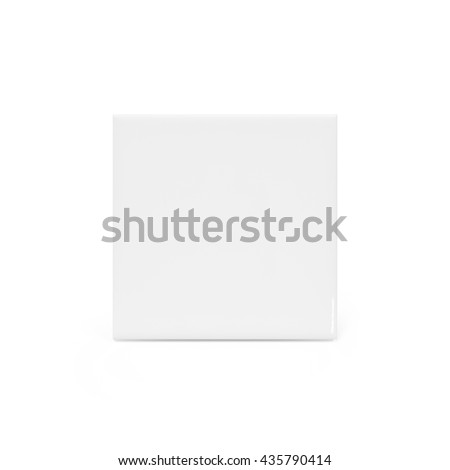 Clipping path ceramic tile on white background. Modern bathroom floor. Blank object for your design. - stock photo