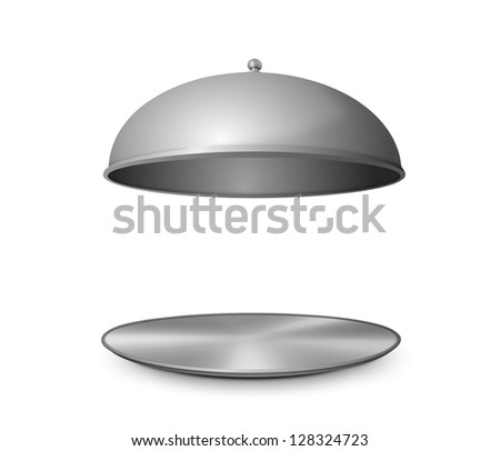 Cloche with open lid