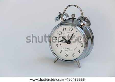 clock alarm clock on a white background. isolated - stock photo