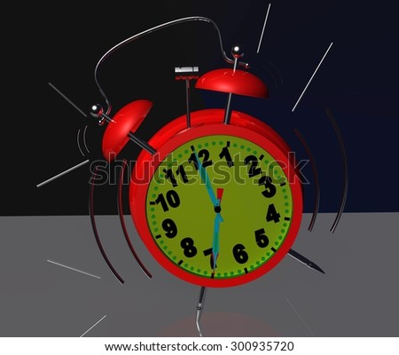 clock alarm 7 o'clock - ringing - stock photo