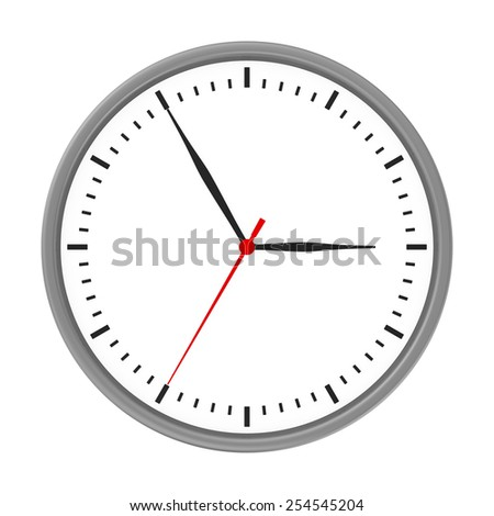 clock and arrows no number with chrome body. - stock photo