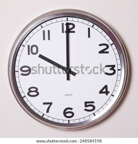 clock at 10 o'clock  - stock photo