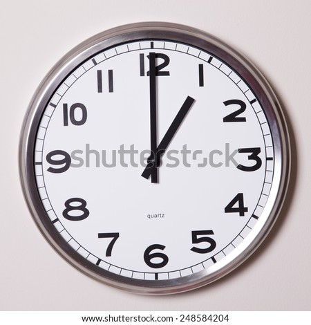 clock at 1 o'clock  - stock photo