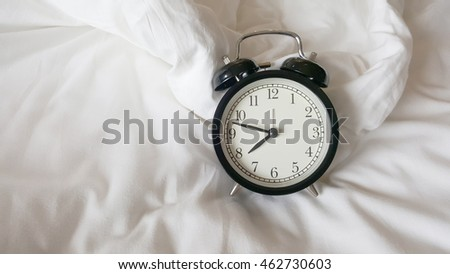Clock black with white