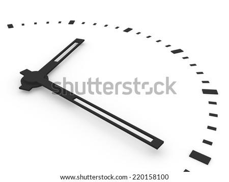 Clock close-up - stock photo