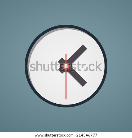 Clock face. Set up your time. flat