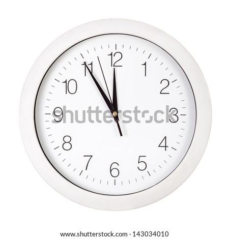Clock Face Showing 12 O'clock Clock Face Showing Five