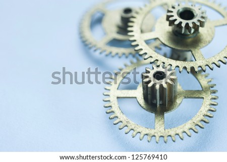 clock gear concept background - stock photo