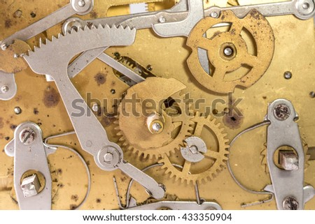 clock gears antique - stock photo