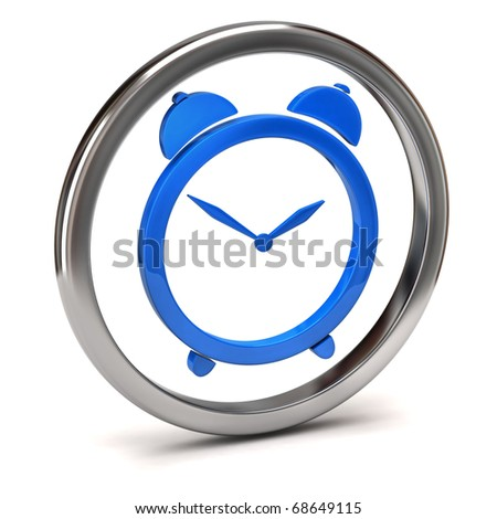 clock icon - stock photo
