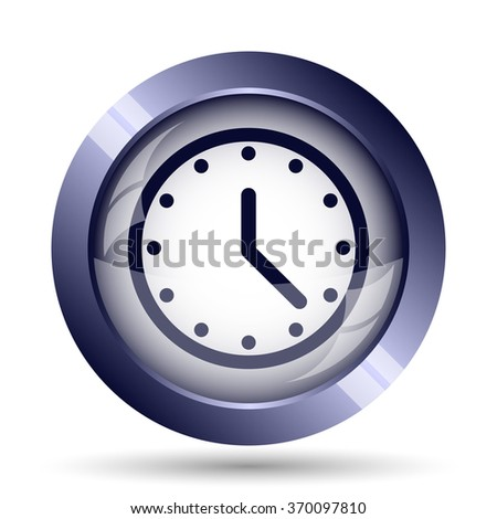 Clock icon. Internet button on white background.