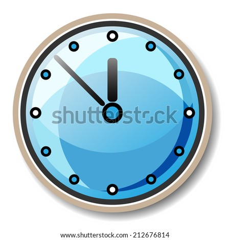Clock illustration raster version - stock photo