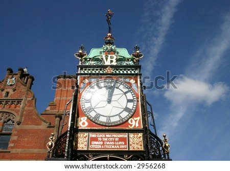 clock in chester (england)