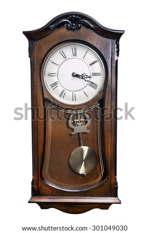clock isolated on a white background - stock photo