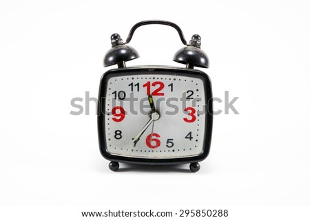 Clock isolated with white background. - stock photo