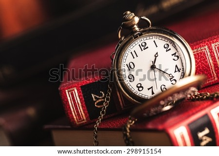 Clock, midnight, watch. - stock photo