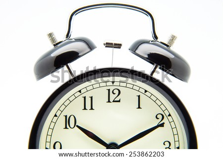 clock of campaign on white background