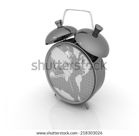 Clock world map stock illustration 218303026 shutterstock clock of world map gumiabroncs Image collections