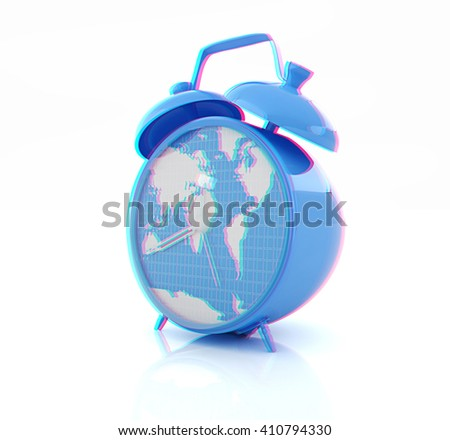Clock world map stock illustration 167368943 shutterstock clock of world map 3d illustration anaglyph view with redcyan glasses gumiabroncs Image collections