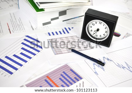 Clock on a market report