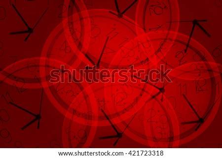 Clock on red Background