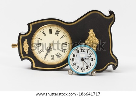 clock on the white background