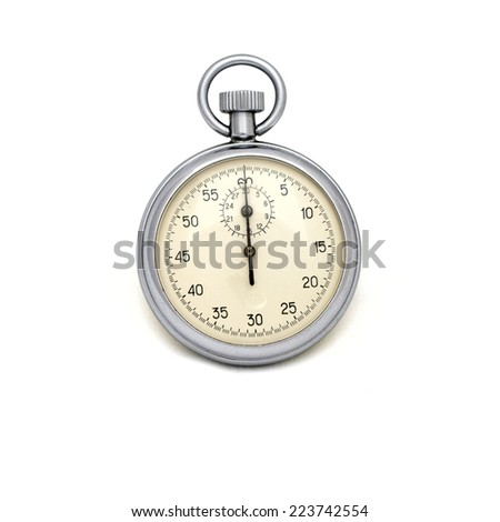 clock on the white background - stock photo