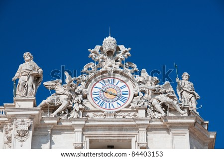 Clock on top of St. Peter's Basilica
