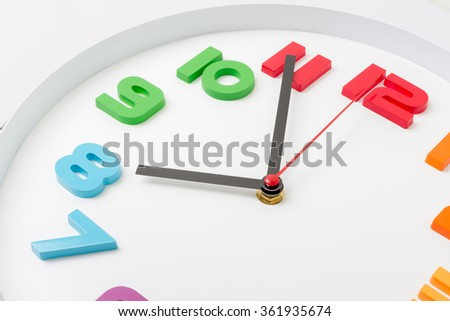 Clock or time abstract background,Close up of modern clock. - stock photo