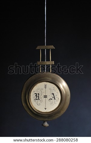 Clock pendulum - stock photo