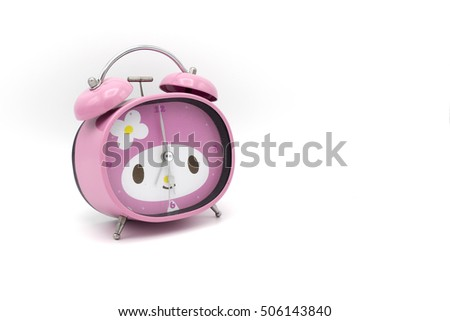 Clock Pink / Alarm Pink isolated