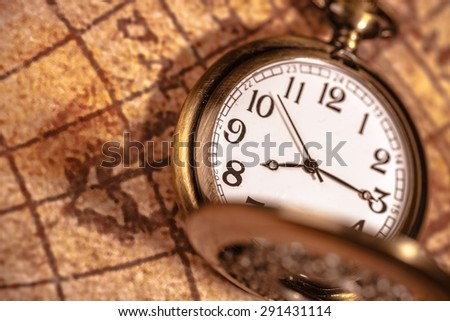 Clock, Pocket Watch, History. - stock photo