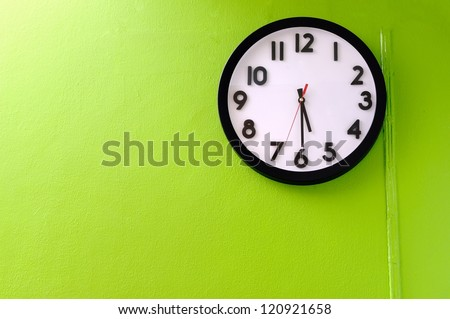 Clock showing 5:30 o'clock - stock photo