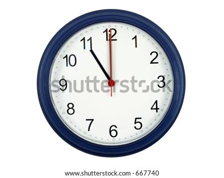 Clock showing 11 o'clock - stock photo