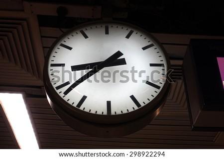 Clock Station - stock photo