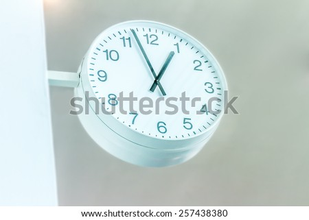 clock station, time concept, industrial background