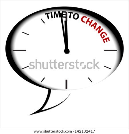 "Clock ""Time is Change"""